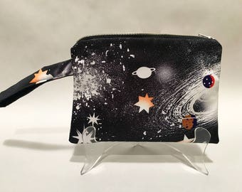 Clutch Purse // Pencil Case // Bag // Accessory // Gift // Galaxy // Space // Galactic Fashion // Stars // Planets