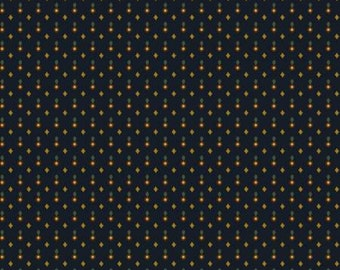 Katie's Cupboard Navy Teardrop Civil War Fabric by Kim Diehl for Henry Glass Fabrics 100% Cotton by the half yard