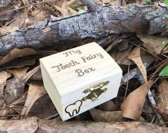 Tooth fairy box, tooth box, childrens tooth box, tooth fairy, small box, wooden box, wood box, tooth fairy pillow, childs gift, tooth