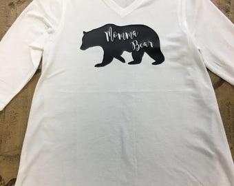 Custom Momma Bear Maternity Shirt