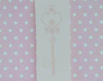 61mm Heart Key Wand Silicone Resin Mould