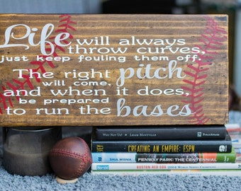 Baseball Sign - Man Cave - Wood Sign - Sports Sign - Baseball Home Sign - Handpainted
