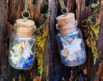 Bone and Mineral Vial Pendant