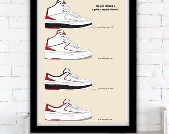 Nike Air Jordan 2 - A guide to original colorways - poster
