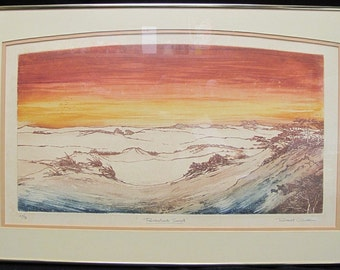 "Robert Clibbon Lithograph ""Provincelands Sunset"" Signed, Numbered and Titled"