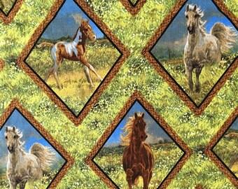 100x110cm Wild Horse Running Fabric