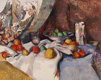 Paul Cezanne: Still Life with Apples. Fine Art Print/Poster. (004222)