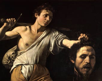 Caravaggio: David with the Head of Goliath. Fine Art Print/Poster. (004249)