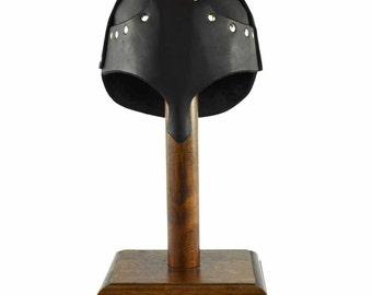 Leather Helm with Nasal Guard - Medieval Helmet - #DK5501