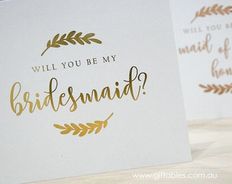 Foiled Bridal Party Gift Cards - Will you be my...?