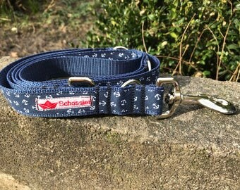 Dog leash of lashes anchor sailor for dogs
