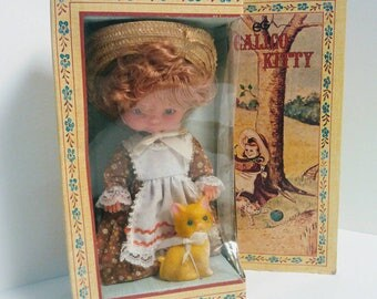Vintage Calico Kitty Doll by Goldberger Doll Manufacturing