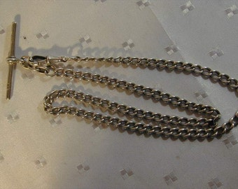 Antique sterling silver watch chain dated 1901 27.7g