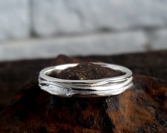 Mens silver ring, Sterling Silver wedding band, Wedding Ring Men, Silver band ring, Silver Wedding Ring, Thin silver ring, Statement jewelry