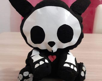 Plush Skelanimals jack the rabbit 16 cm handmade by me.