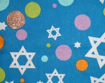 Happy Hanukkah Star of David JoAnn Cotton Quilting JoAnn Fabric BTY by the yard