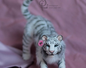 Animals 12cm FOR ORDER. Realistic toys. Soft sculpture. OOAK. stuffed animals. Art doll. Doll house. Cat. Dog. Tiger. Wolf. Fox.