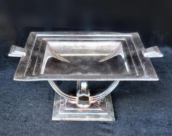 Wilcox Silver Plate Art Deco Tazza or Flat Compote circa 1920s