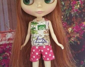 115 # Neo Garden Pink dotty Romper