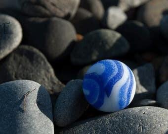 Blue Sea Marble, Tiny Planet, Beach Glass Marble, Beachcombing Treasure, Mermaid's Tears, Mini Earth, Digital Download, Explore Nova Scotia
