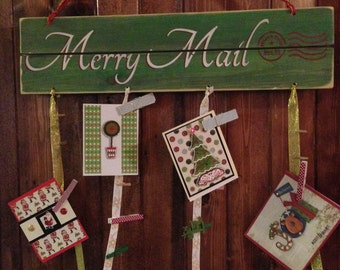 Merry Mail Card Holder Display