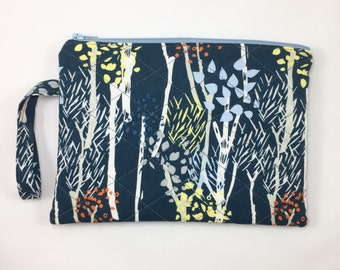 Woodland Purse Branches Quilted Wristlet Wallet Tree Gifts Shop for a cause Womens Purse Forest Zipper Pouch Gifts for mom Gifts for Her