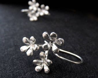 Flower Earrings - silver