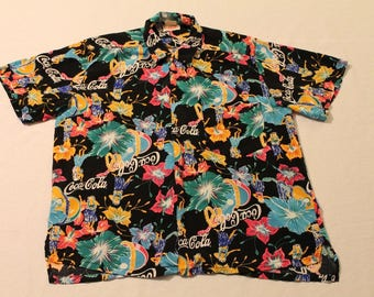 Vintage Coca-Cola Shirt Rare Hawaiian