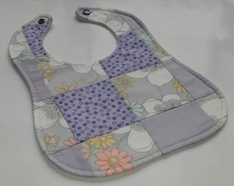 Patchwork Baby Bib - Purple