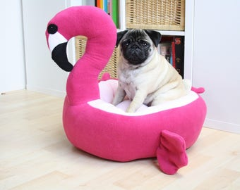 PRE ORDER Flamingo bed - dog cat bed - cute kawaii - pink