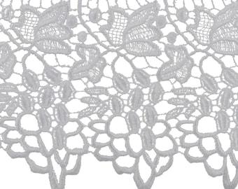 5 and 1/2 inch white venice grapevine lace trim, extra wide crochet lace trim, white lace trim, 5 1/2 inch white lace trim, bridal lace trim