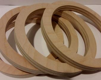 Plywood Rings, Large Wood Rings, Wood Circles