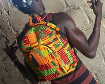 Kente Cloth Backpack