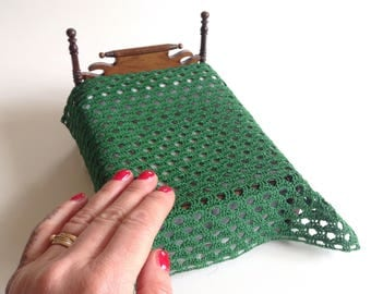 Miniature afghan/bed cover, 1/12 scale/one inch scale, dollhouse bed cover
