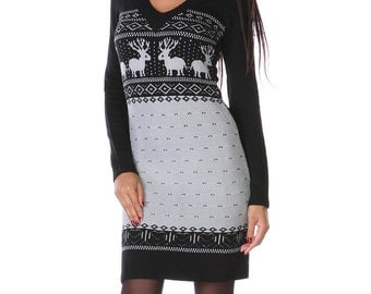 "Vintage Holiday  - ""Limited Edition"" Christmas dress / Ultimate holiday ""sweater"" dress / womens dress / sweater dress /"