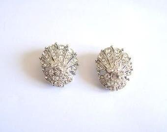 Shoe Clips diamante silver clips for shoe embellishments pair