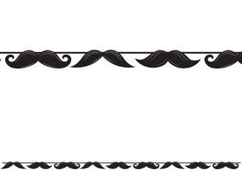 1/  Mustache Party banner