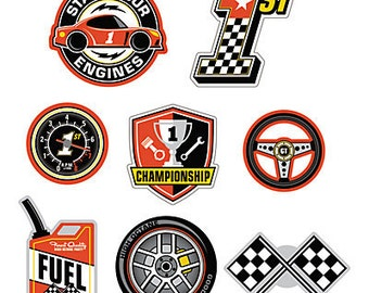 My Racing Party Wall decorations / Race Party/ Race car Party Theme / My race car theme / Race car / Party cutouts