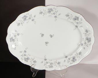 Haviland Blue Garland Bavaria Oval Serving Platter 14-3/4 inch