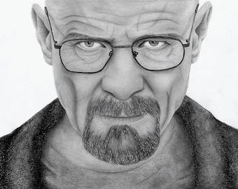 Breaking Bad Walter White / Heinsenberg drawing