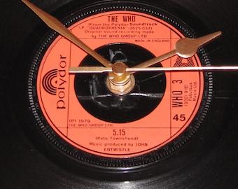 "The Who 5:15  7"" vinyl record clock"