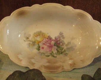 Vintage signed soap or candy dish