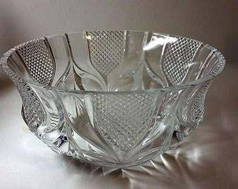 YARD SALE...Cut Crystal Beveled Bowl