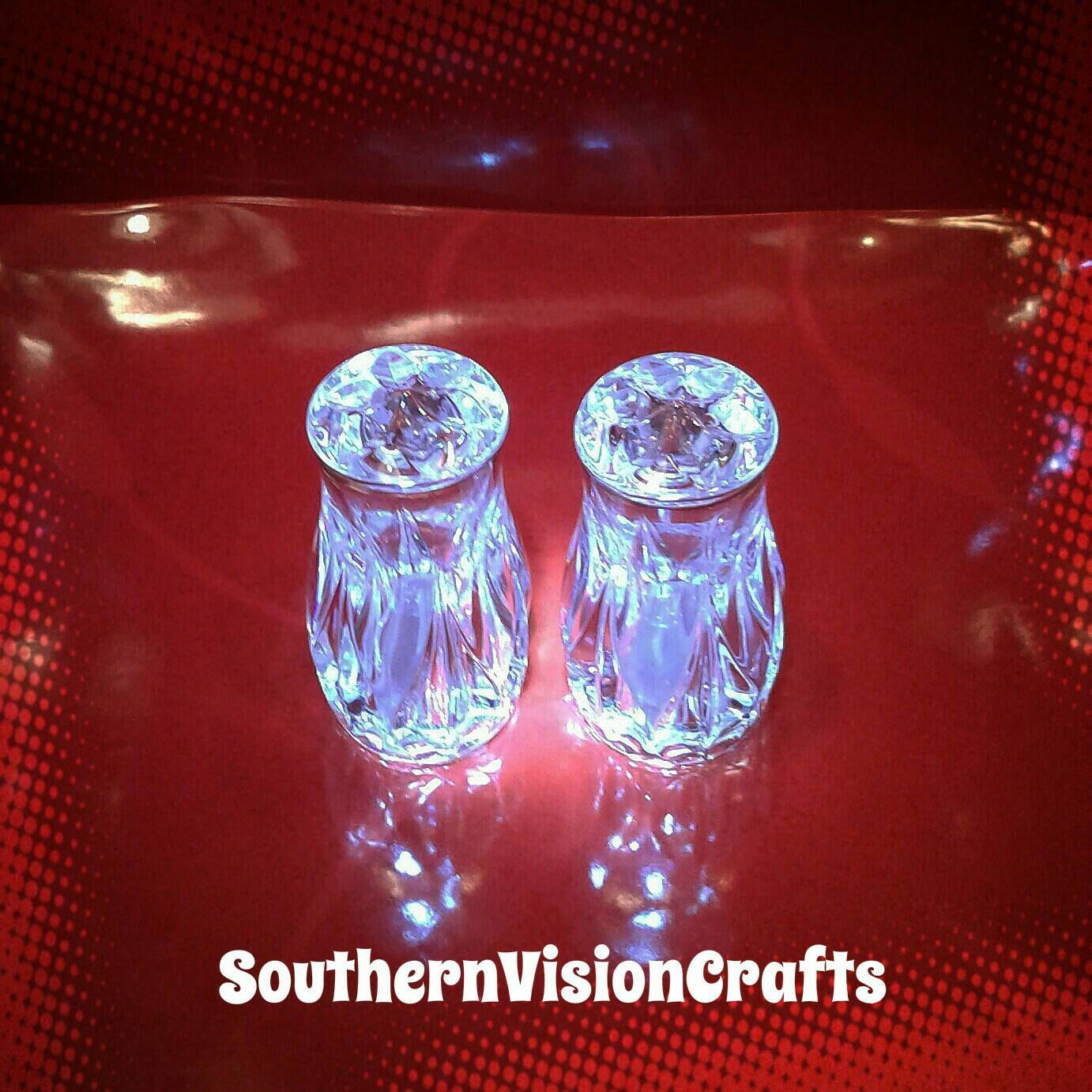 salt and pepper shakers fine crystal
