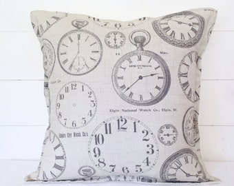 "Vintage Clocks Cushion Cover 16"" 18"" 20"""