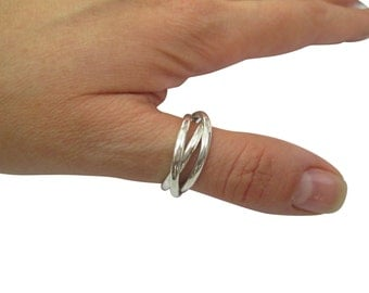 russian wedding ringband three cord ring - Russian Wedding Ring