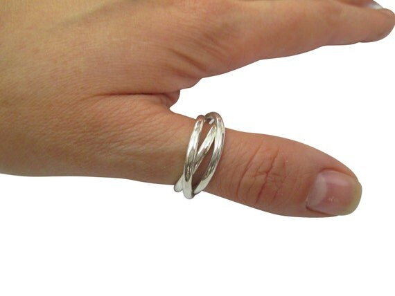 russian wedding ring band three cord ring