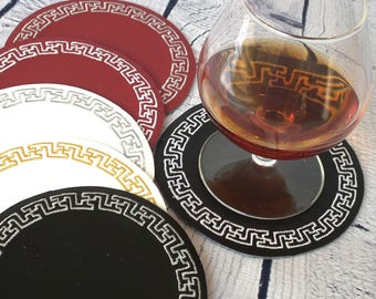Boyfriend Christmas Gift, Gift Hot Pads, Cup Coaster, Christmas 2018, Coaster Table Set, Husband Christmas Gift, Table Coasters For Drinks
