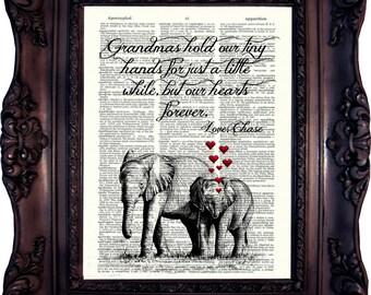Grandmother Gift Grandma MOTHER'S DAY Gift Grandma Poem Grandma Quote Personalized Grandmother Gift Grandma Verse Grandma Birthday Gift C853