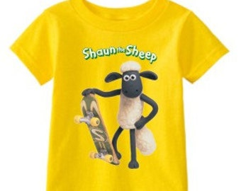 Shaun the Sheep Skate custom t-shirt (Different Colors)